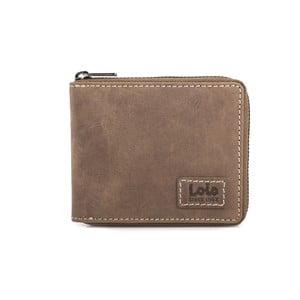 Kožená peňaženka Lois Brownie, 10,5x8,5 cm
