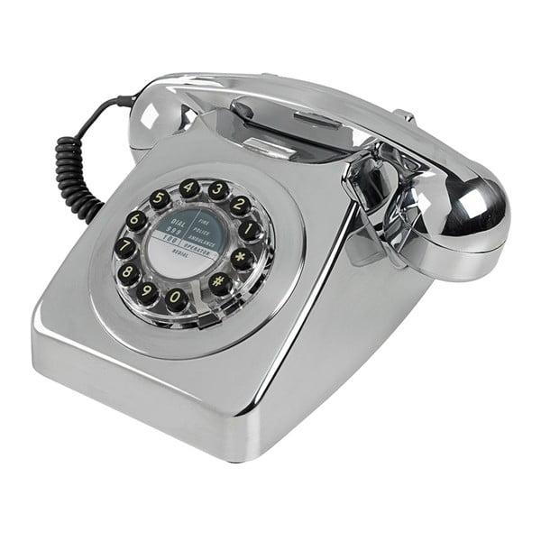Retro funkčný telefón Serie 746 Brushed Chrome