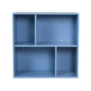 Modrá polica Tenzo Z Cube, 70 x 70 cm