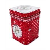 Červená plechová škatuľka HOME ELEMENTS De Campagne