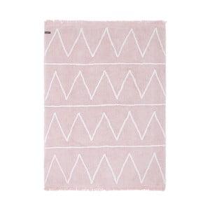 Ružový bavlnený ručne vyrobený koberec Lorena Canals Hippy, 120 x 160 cm