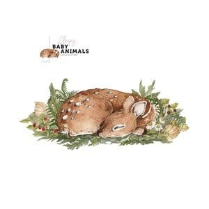 Nástenná samolepka Dekornik My Little Wild Deer, 150 x 65 cm