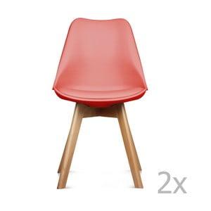 Sada 2 červených stoličiek Opjet Scandinavie