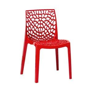 Sada 2 červených jedálenských stoličiek Evergreen Houso Faux