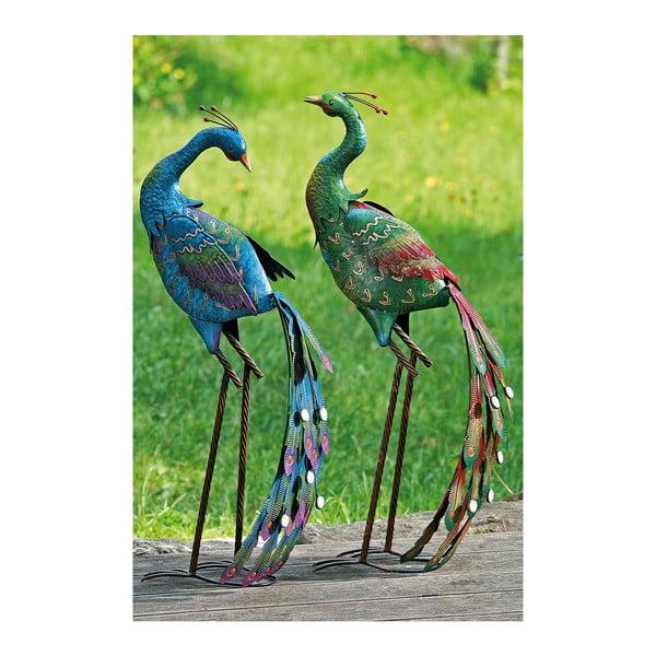 Sada 2 dekoratívnych záhradných pávov Peacock