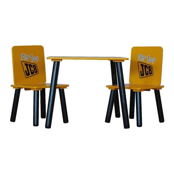 Detský stôl a 2 stoličky JCB