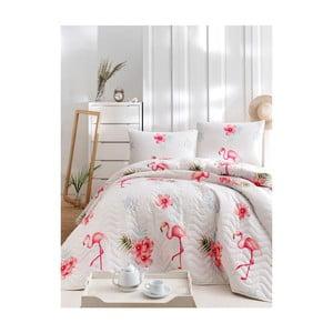Set bavlnenej prikrývky cez posteľ a 2 obliečok na vankúše Lesso Musa, 200×220 cm