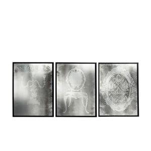Sada troch obrazových zrkadiel Antique