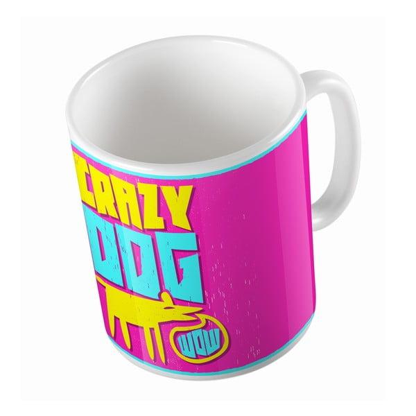 Keramický hrnček Crazy Dog, 330 ml