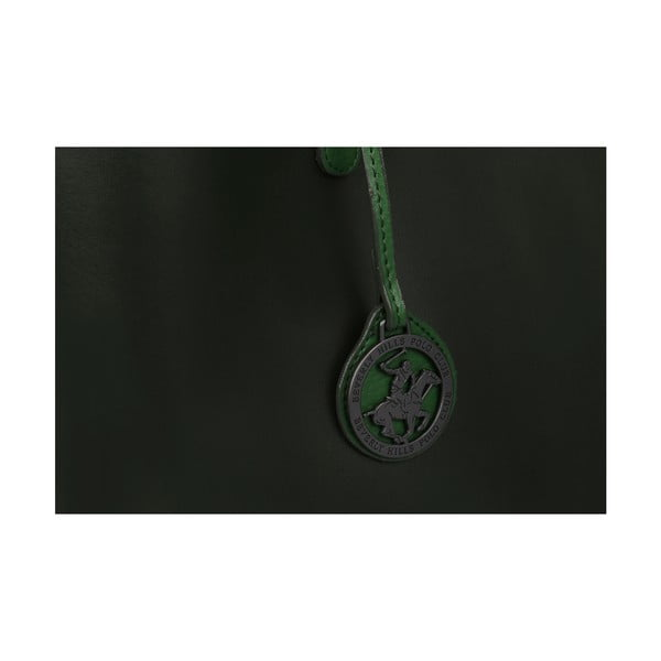 Zelená kožená kabelka Beverly Hills Polo Club Magali