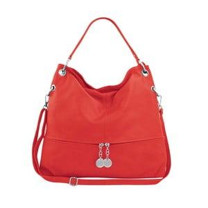 Červená kožená kabelka Maison Bag Evelyne