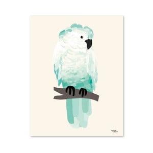 Plagát Michelle Carlslund Green Cockatoo, 50x70cm