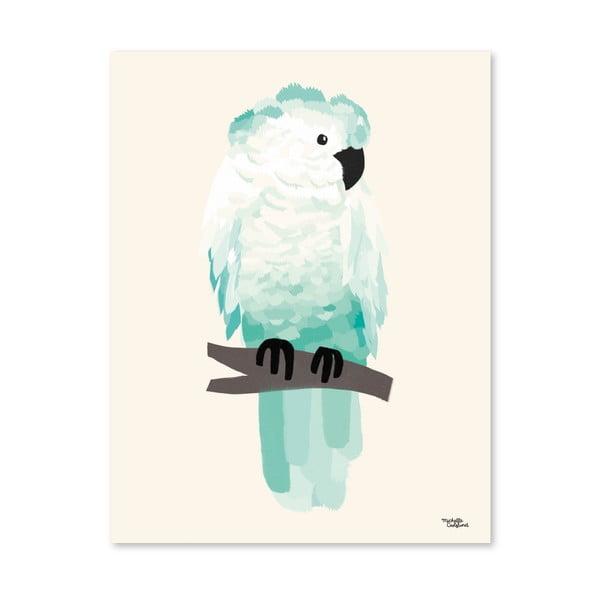 Plagát Michelle Carlslund Green Cockatoo, 30x40cm
