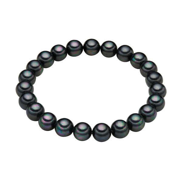 Náramok s antracitovočiernymi perlami Perldesse Muschel,⌀0,8 x dĺžka 17 cm