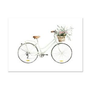 Plagát Leo La Douce Bicycle Love, 21x29,7cm