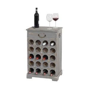 Stojan na 20 fliaš vína Shabby, sivý