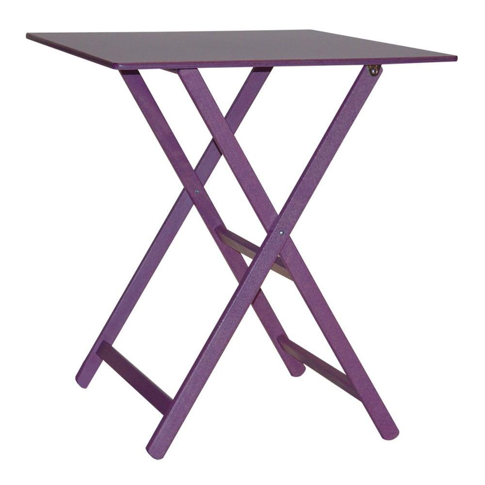 Fialový drevený skladací stôl Valdomo Maison, 60 x 80 cm
