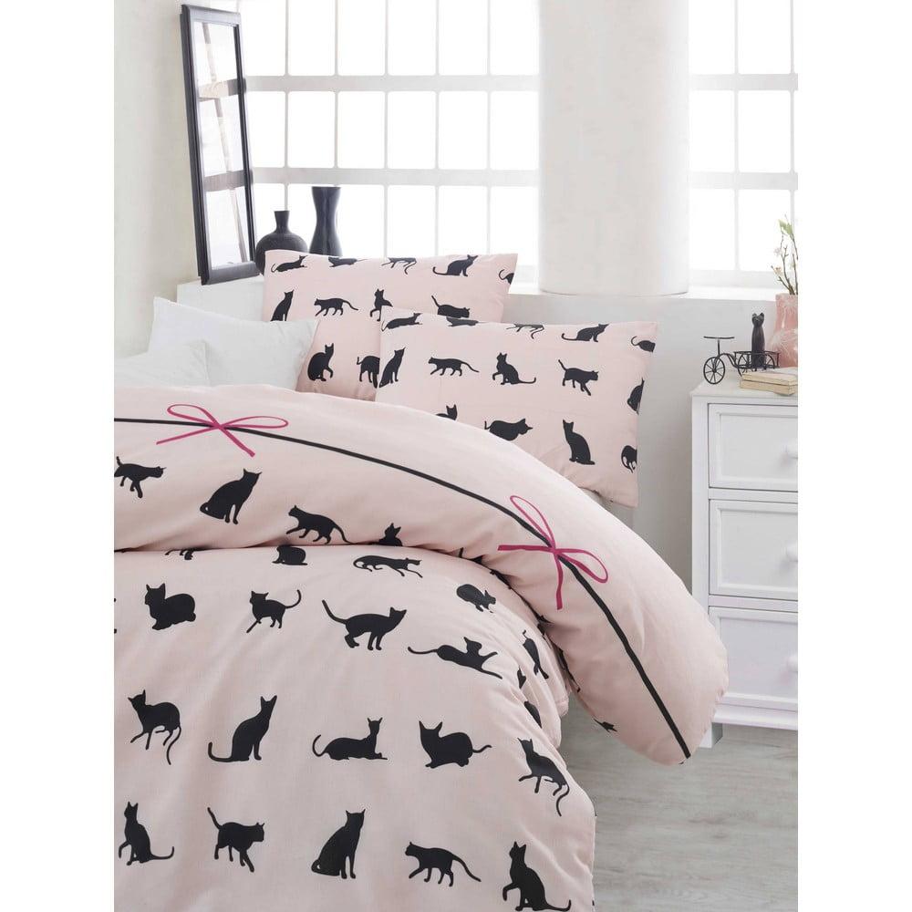 Obliečky s plachtou na dvojlôžko Cats, 200 × 220 cm