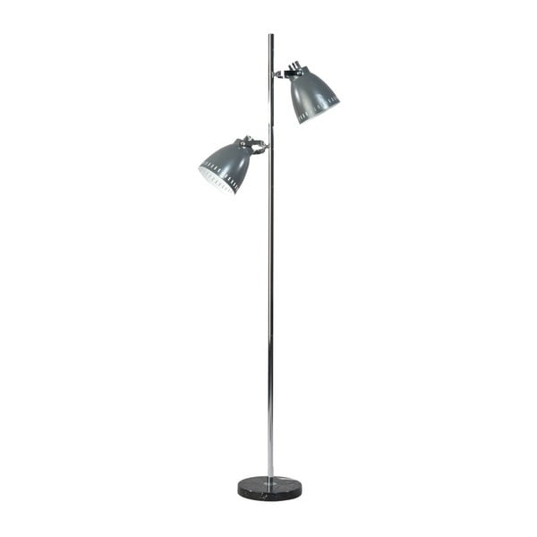 Sivá stojacia lampa Acate Jay