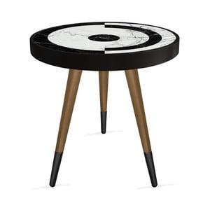 Príručný stolík Rassino Point Marble Circle, ⌀ 45 cm