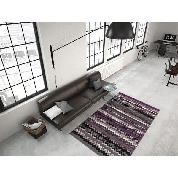 Fialovo-čierny koberec Kayoom Stella 700 Violet, 120x170cm