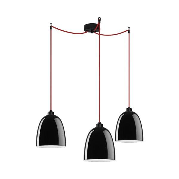 Trojité svetlo AWA Elementary black glossy/red/black
