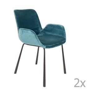Sada 2 modrých stoličiek s opierkami Zuiver Brit