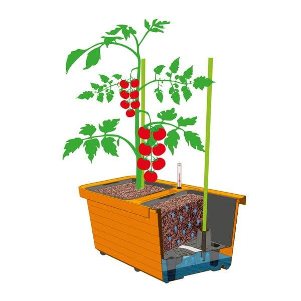 Antracitový veľkoobjemový samozavlažovací kvetináč Plastia Berberis TRIO, 72 l