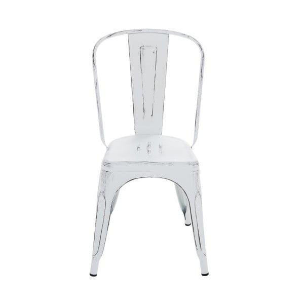 Kovová stolička InArt Antique, biela