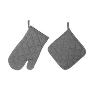 Set sivej chňapky a rukavice Unimasa