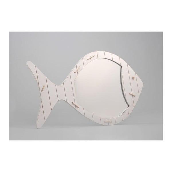 Zrkadlo White Fish, 38x65 cm