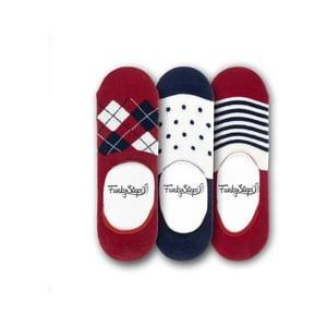Sada 3 párov nízkych ponožiek Funky Steps Glad, veľkosť 39 - 45