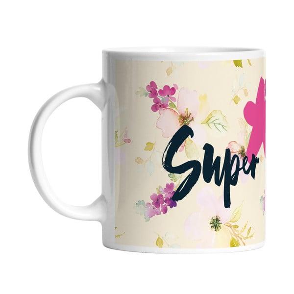 Keramický hrnček Super Girl, 330 ml