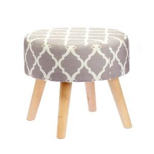 Stolička Grey Geometric, 40 cm