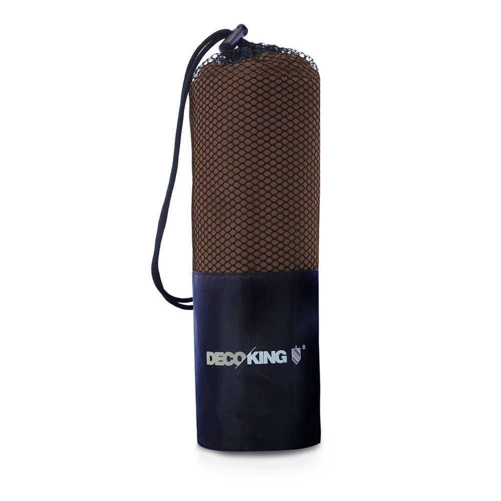 Sada 2 hnedých rýchloschnúcich uterákov DecoKing EKEA, 30 × 50 cm