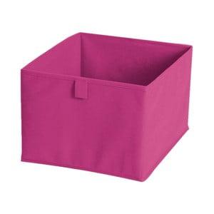 Ružový textilný úložný box Jocca, 30 x 30 cm