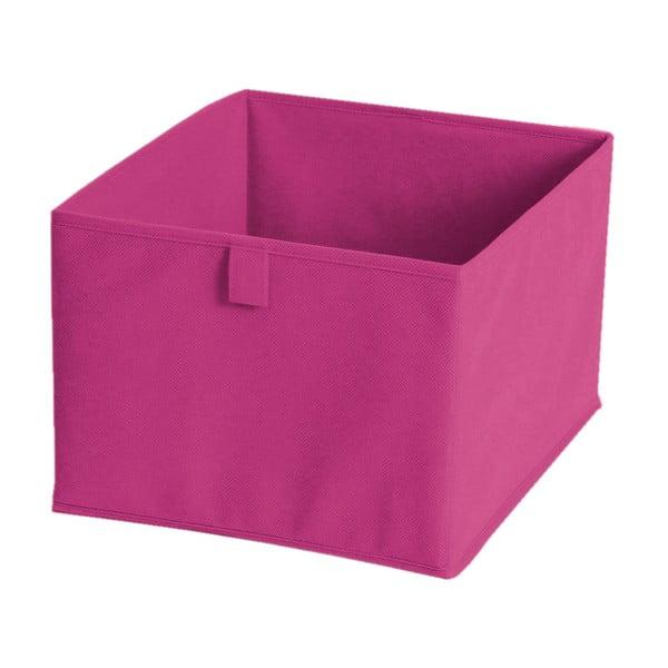 Ružový textilný úložný box JOCCA, 30×30cm