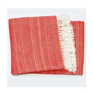 Červená deka Euromant Toscana, 140x180cm