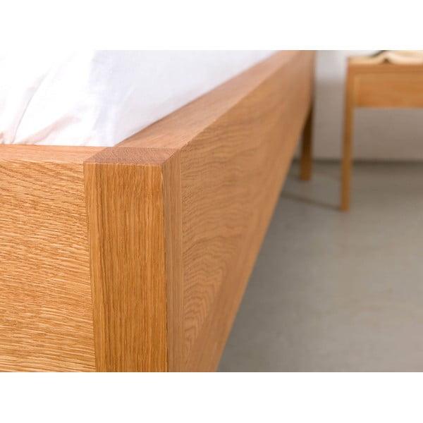 Posteľ z dubového dreva Ellenberger design Alex, 100 x 200 cm