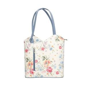 Kožená kabelka s modrými detailmi Chicca Borse Paraya