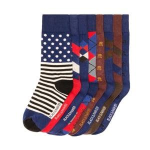 Sada 8 párov vysokých unisex ponožiek Black&Parker London Page, veľkosť 37/43