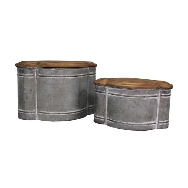 Sada 2 kovových boxov Antic Line Greso