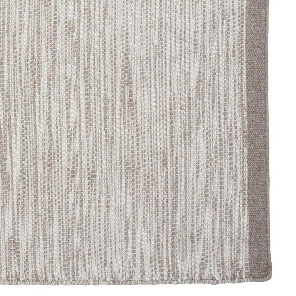 Vlnený koberec Asko, 140x200 cm, strieborný