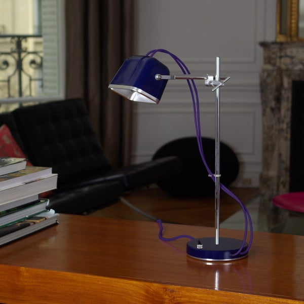 Fialová stolová lampa Mob