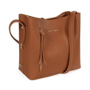 Béžová kabelka z kože Laura Ashley Erindale