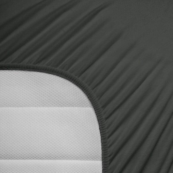 Elastické prestieradlo Hoeslaken 80-100x200 cm, antracitové