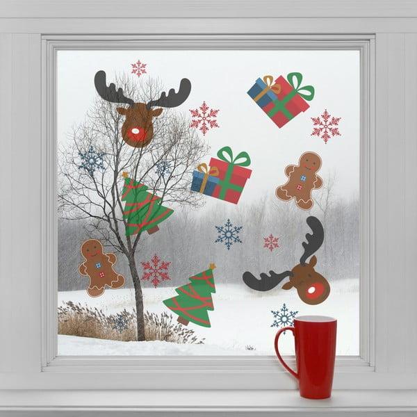 Elektrostatické vianočné samolepky Vianočné symboly