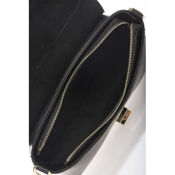 Kožená kabelka Harika, čierna