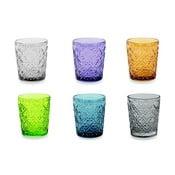 Sada 6 farebných pohárov Villa d'Este Marrakech, 240 ml