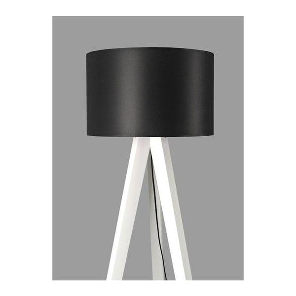 Stojacia lampa Tripod Black/White